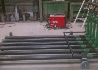 600,000 BTU Pipe Burner Set with wheel kit