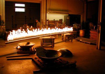20 Foot Yellow Flame Pipe Burner